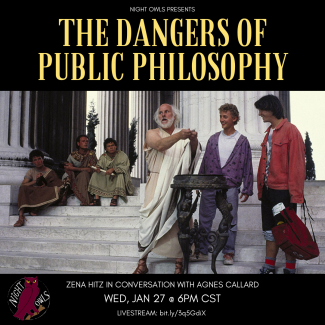 """Poster for """"The Dangers of Public Philosophy"""" event"""