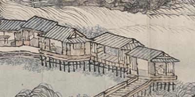 Landscape in the Style of Juran and Yan Wengui 仿巨然燕文貴山水圖 thumbnail
