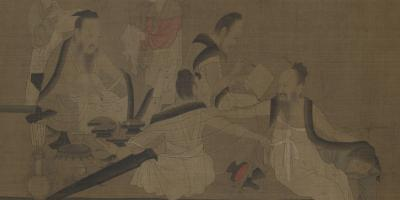 Northern Qi Scholars Collating Classic Texts 北齊校書圖卷 thumbnail