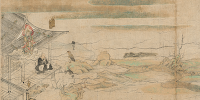 Illustrated Legends of the Yuzu Nembutsu Sect, Scroll 2 融通念仏縁起 thumbnail
