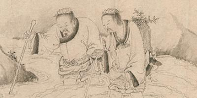 Liu Chen and Ruan Zhao Entering the Tiantai Mountains 劉晨阮肇入天台山圖 thumbnail