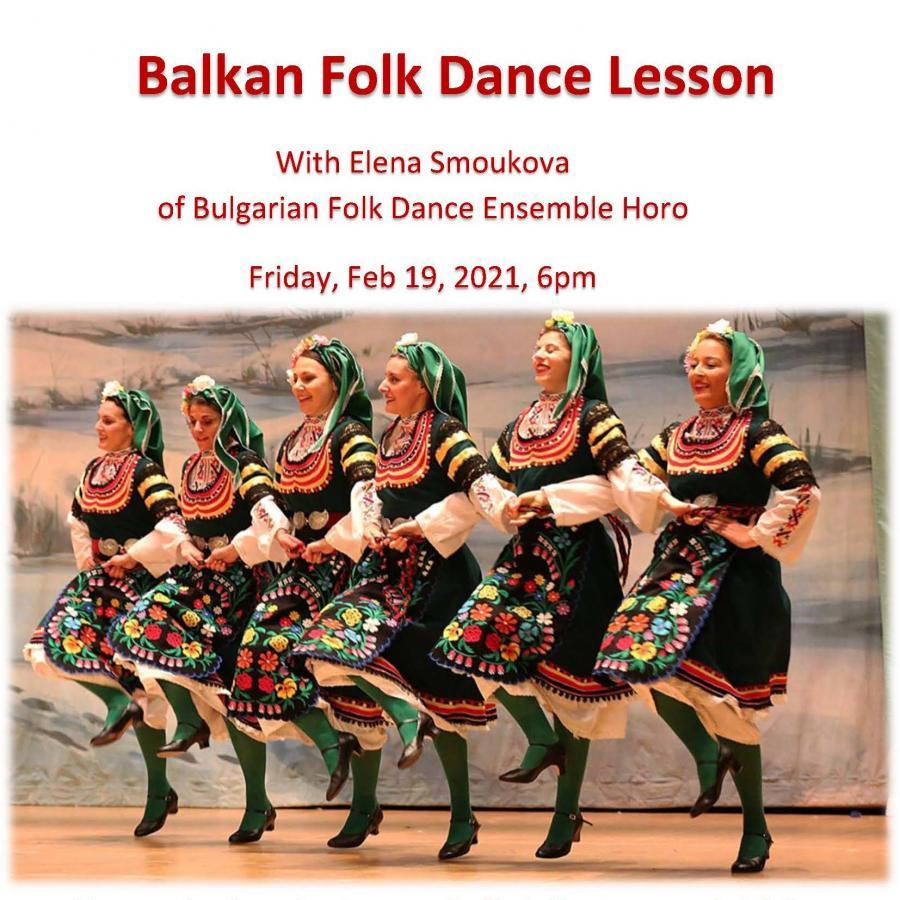 Balkan Folk Dance Lesson with Elena Smoukova