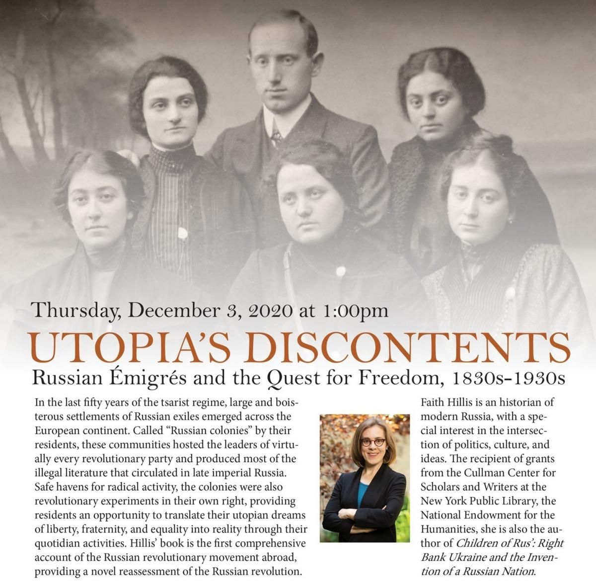 Utopia's Discontents: Russian Émigrés and the Quest for Freedom, 1830s-1930s