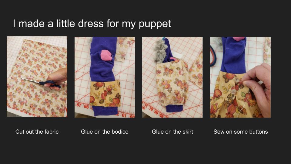 Making a Sock Puppet Slide 6