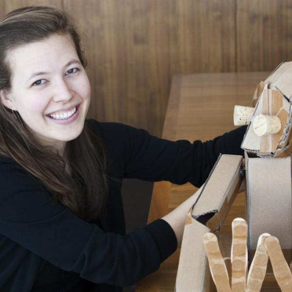 marissa fenley and puppet friend